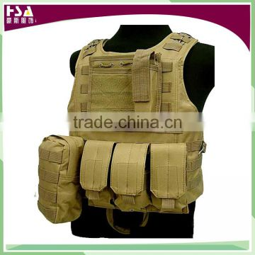 hot sale 600D ruggidized Oxford outdoor molle army paintball tactical vest overland hunting