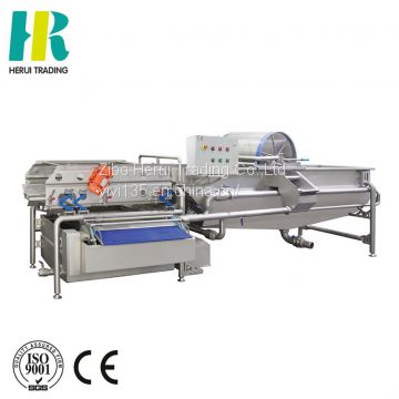 Rotary industrial fruit and vegetable washer machine