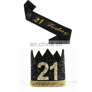 21 tiara and sash 21st birthday party supplies accessories