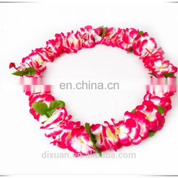 Decorative Polyeste Wedding Flower Garland Hawaiian Silk Flower Leis
