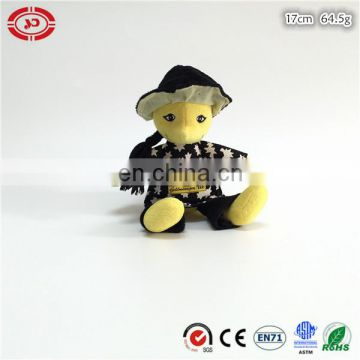 Yellow man figure doll plush stuffed sitting fashion toy