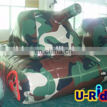 Camouflage Tactical Tank Inflatable Paintball Bunker For Sale