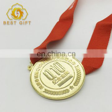 Custom Marathon Metal Sport Souvenir Golden Medal For Gifts