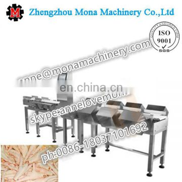Conveyor weight sorting machine