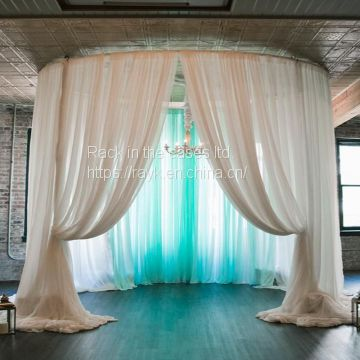 RK wedding pipe and drape chiffon drape from RK for sale