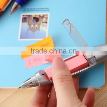 Hot selling LED Sticky Note Pen / sticky notes with pen / ballpoint pen notes