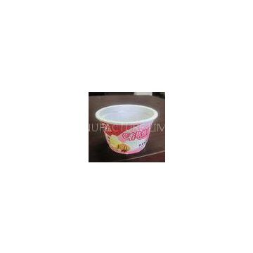 250ml White Disposable Ice Cream Cups Eco Friendly For Salad PET