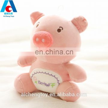 wholesale promotional plush toy pig crane machine animal plush toy