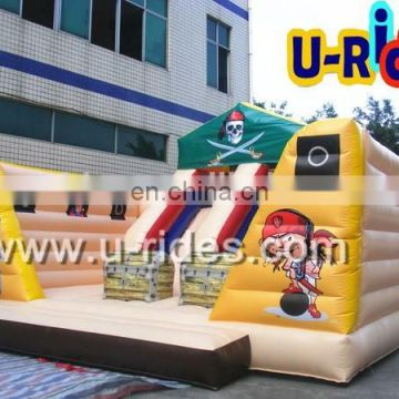 Inflatable funny city with slide
