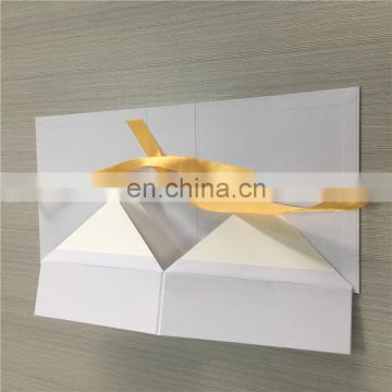 2017 Hot sales Elegant white box with 4C printing logo for birthday gift packed