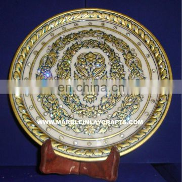 Handmade Marble Plate With Painting, Corporate Gift