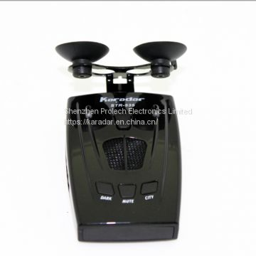 Best car detector 2017 anti radar car detector strelka alarm system brand car radar detector STR 535 for Russian