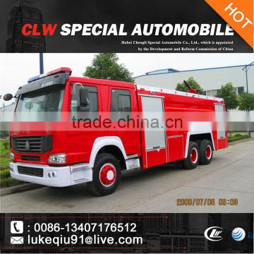 HOWO 12000liters big fire truck for sale