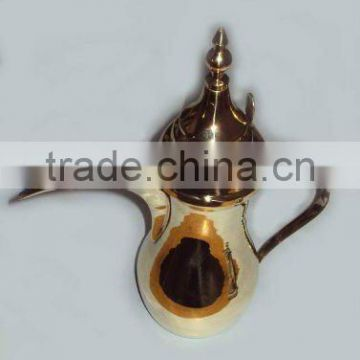 Brass dalla arabian coffee pot, metal coffee pot, arabic coffee pot, arabic dalla