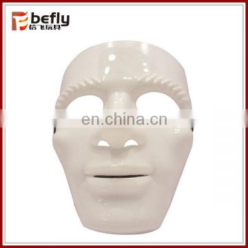High quality plastic white mask with flash light