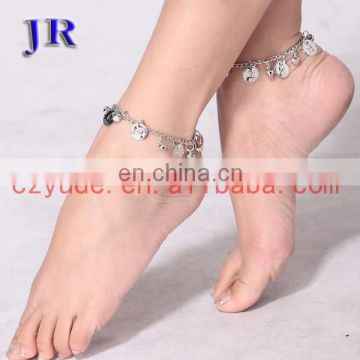 Tribal gold and silver coin belly dance anklet jewelry accessories P-9009#
