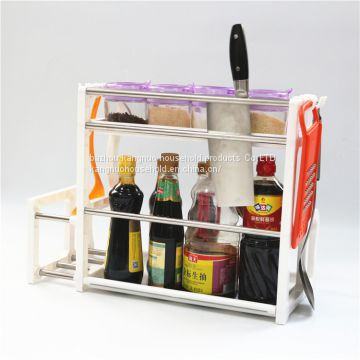 Household kitchen organizer shelf corner storage rack 2 layers