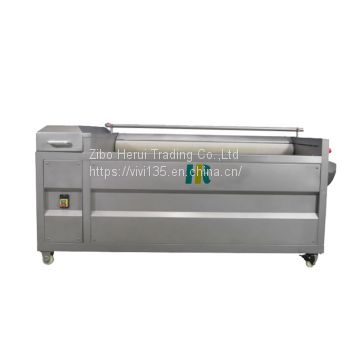 Industrial onion brush polishing machine