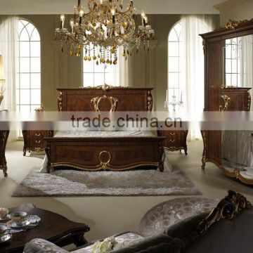 Hand Carved Luxury Classic Italian Wooden 5PCS Bedroom ...