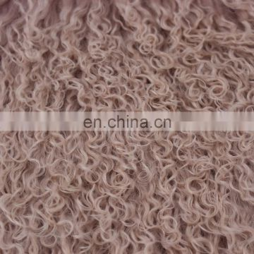 long haired Mongolian lamb fur soft and silky touch garment scarf pillow blanket stool seat cushions use