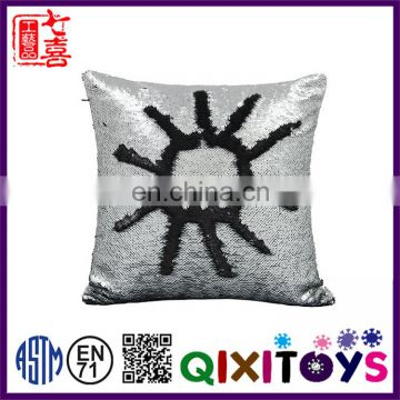 Special design DIY decorative reversible sequin fabric pillow