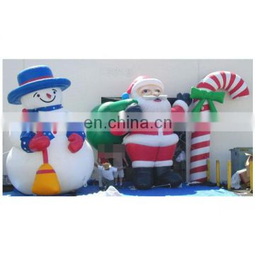 newest style outdoor decoration giant inflatable santa claus