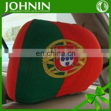 Polyester excellent quality advertising custom headrest cover