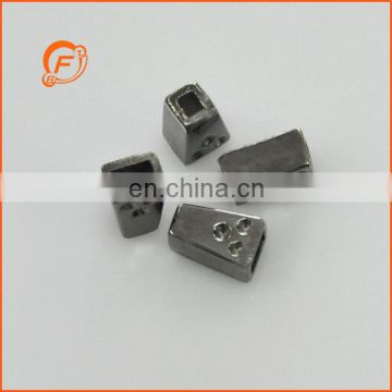 12mm tower shape gunmetal metal cord stopper for decoration