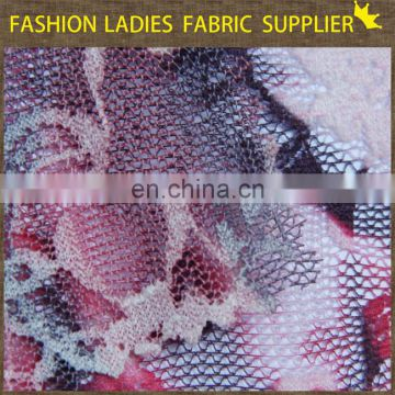 Blue fashion design popular high end ladies nylon/spandex lace fabric
