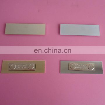 73*22mm blank logo high quality metal magnetic name badge