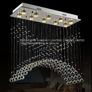 Square Elegant Clear Crystal Lighting Luxury Led Chandelier For Home Decorative 8030 10