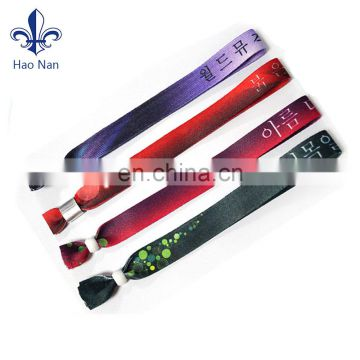 Merchandise custom design fabric wristband for concert ticket