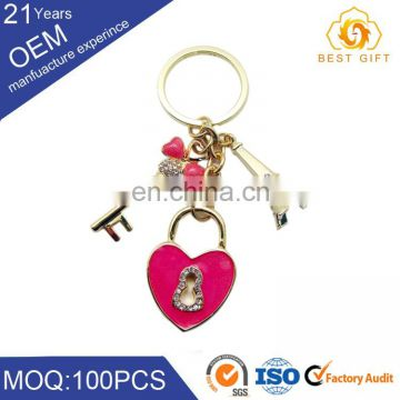 New Arrival Heart and flower shape key chain wholesale
