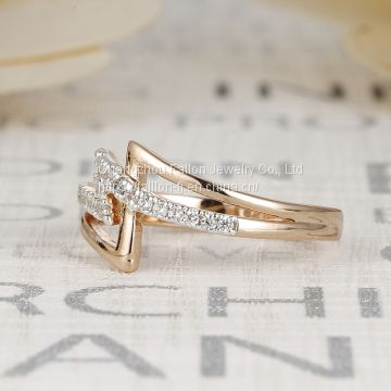 The Rose Gold Plated Jewelry Rings Inlay AAA Zircon