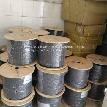 Black and white indoor and outdoor fiber optic cable