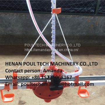 Cameroon Poultry Farm Automatic Broiler Chicken Plastic Salt Floor System with Automatic Nipple Drinker System & Feeding Pan System in Chicken Coop