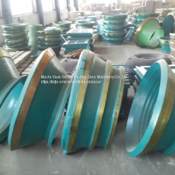 Metso cone crusher spare parts bowl liner HP400