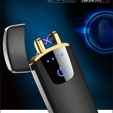Usb Charged Blue Touch Electric Arc Lighter