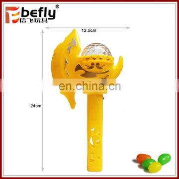 Promotional plastic flash stick best sweet candy toy