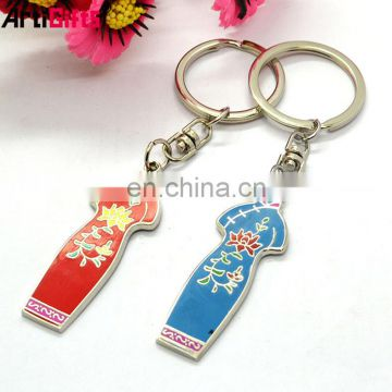 Wholesale metal chinese clothes keychain