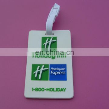 travel holiday luggage tag with blank plastic strap