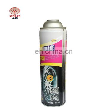 Four color printing with different sizes of empty tinplate spray can for Car care