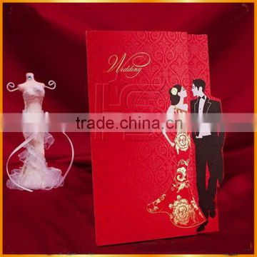 2016 Best selling traditional style wholesale factory price wedding invtation card
