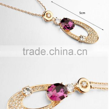 best selling products china wholesale Simple design deep red crystal fashion necklace free samples N0104