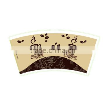 custom paper cup fan with printing , double single PE paper cups fan for coffee cups