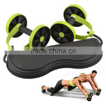 Revoflex Xtreme- New Core Double Wheels Ab Roller Pull Rope Abdominal Waist Slimming abdominal exercise equipment
