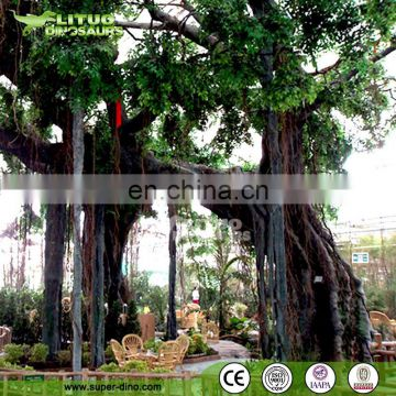 Ecological Garden Canteen Decoration Simulation Plant of Artificial Banyan Tree for Sale