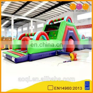 Outdoor inflatable slide, inflatable obstacle course for kids