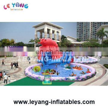 Kids inflatable aqua park with pool/ Mobile kids amusement park