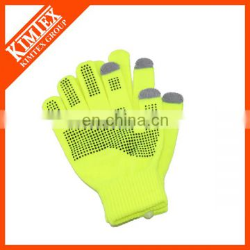 Winter knit custom promotional touchscreen gloves